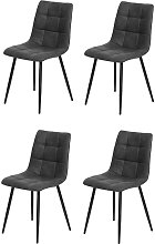 Pack de cuatro sillas de comedor estilo industrial