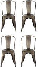 Pack de cuatro sillas estilo tólix con respaldo