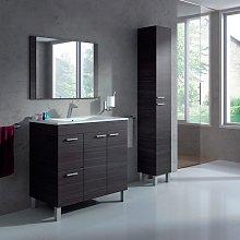 Pack mueble baño con espejo lavamanos cerámico y