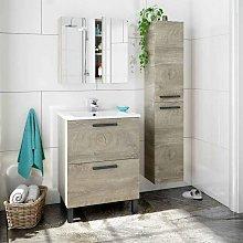 Pack Mueble baño con Lavabo, Columna y Armario