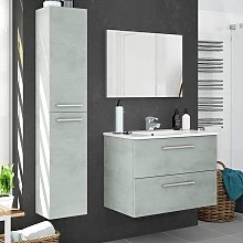 Pack muebles cemento mueble baño espejo columna y