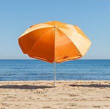 Pack sombrilla de playa de Ø 200 cm naranja de