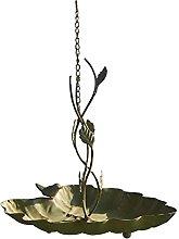 Pajarera colgante para jardín, diseño retro de