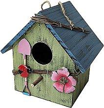 Pajarera nido de pájaro de madera colgando