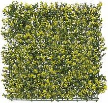 Panel artificial para jardín vertical amarillo de