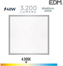 Panel Led 40W 3.200Lm Ra80 60X60Cm 4.000K Edm -