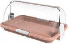 Panera sencilla color rosa, dim: 30x21x14 cm
