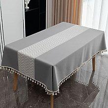 Paños de mesa americanos grises, mantel de