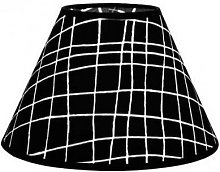 Pantalla Conica Serie Jenifer E27 Cuadro Negro