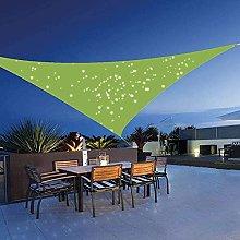 Pantalla de tela de tela con toldo triangular para