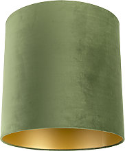 Pantalla terciopelo verde 40/40/40 interior dorado