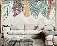Papel tapiz 3d mural nórdico color pluma