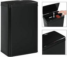 papelera con sensor automático de acero negro 60