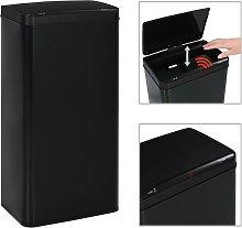 Papelera con sensor automatico de acero negro 80 L