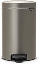 Papelera platino con pedal 12l - 113628 - Brabantia