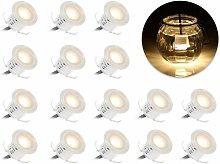 Paquete de 16 kits de luces LED empotradas para