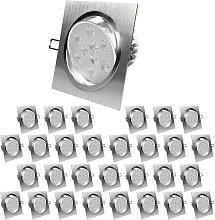 Paquete de 30 LED Foco empotrado 9W 230V -