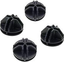 Paquete de 4 conectores negros para armario
