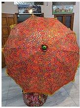 Paraguas de jardín con diseño de zari antiguo,