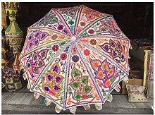 Paraguas de jardín con espejo, estilo indio,