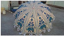 Paraguas de jardín decorativo hecho a mano,