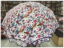 Paraguas de pájaro del paraíso, hecho a mano,