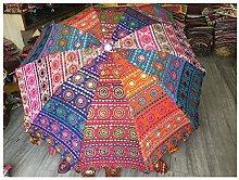 Paraguas decorativo de jardín hecho a mano,