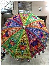 Paraguas decorativo de playa hecho a mano de