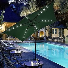 Paraguas Sombrilla de patio con LED Sombrilla de