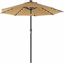Parasol de jardín con luces solares LED,