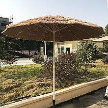 Parasol De Paja De 2,15 M Sombrilla De Jardín De