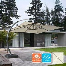 Parasol grande jardín 3,5 metros cuadrado mástil