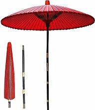 Parasol sombrilla de jardín roja, sombrilla de