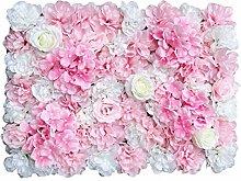 Pared de flores artificiales, 6 unidades de rosas