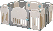 Parque Infantil Bebé 12 Paneles con Puerta para