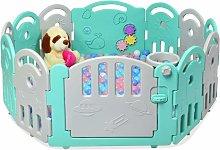 Parque Infantil Bebé con 12 Paneles Plegable
