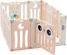 Parque Infantil Bebé de 12 Paneles Plegable