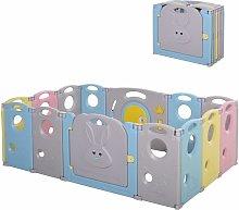 Parque Infantil Bebé Plegable 14 Paneles con
