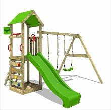 Parque infantil de madera KiwiKey con columpio y