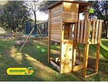 Parque Infantil Taga Escalada Con Columpio Doble -