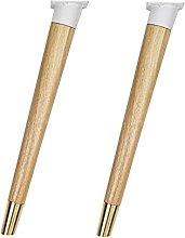 Patas de madera para muebles X2, pies de