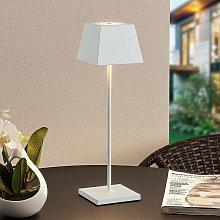 Patini lámpara de mesa LED exterior blanca -