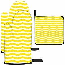 Patrón con Fondo Amarillo en Zigzag de Colores