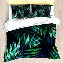 Patrón de hojas de palmeras verde oscuro - Juego