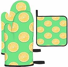 Patrón de rodajas de limón en un Guante de Horno