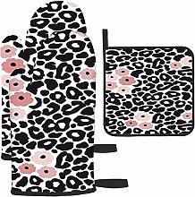 Patrón Moderno de Leopardo Blanco y Negro con