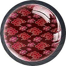 Patten chino rojo, botones de ilustración de