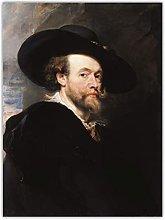 Paul Rubens, autorretrato, lienzo barroco, pintura
