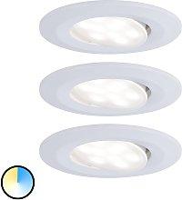 Paulmann foco LED Calla blanco cambio color, set 3