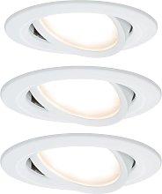 Paulmann Nova foco empotrado LED, girante aluminio